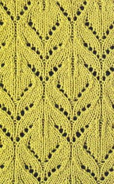 Lace knit pattern chart