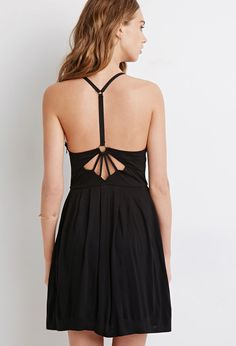 Strappy-Back Pleated Dress | Forever 21 - 2000114889
