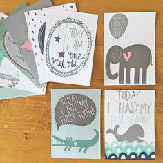 Baby Milestone Cards  24 Beautifully Illustrated Designs