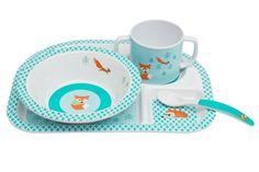Dish Set Melamine/Silicone, Little Tree - Fox | LÄSSIG FASHION