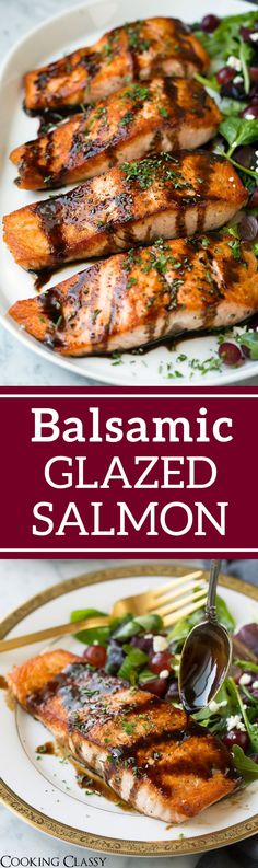 Balsamic Glazed Salmon - Cooking Classy