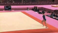 Wow this is a amazing floor routine she is so talented