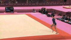 floor routine gymnastics gif - Google Search