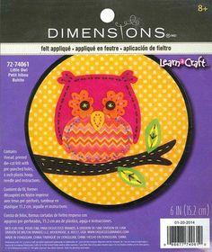 Dimensions Felt Applique Kit   Little Owl by DebiCreations on Etsy