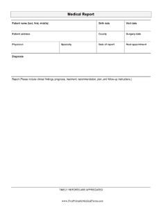 A printable form for medical offices with room to list information ...