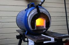Learn how to make a high efficiency propane forge for blacksmithing or glass making.