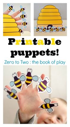 Prinatable puppets :: finger play printables :: bee craft for kids