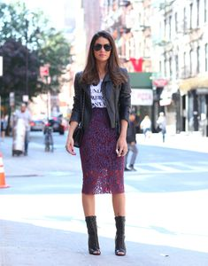 Look do dia: Saia Midi & Ankle boots