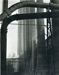 Edward Weston, Pipes and Stacks [Armco Steel, Ohio], 1922 Industrial Photography, Modern Photography, Black And White Photography, Street Photography, Film Photography, Edward Weston, Willy Ronis, Henry Westons, Straight Photography