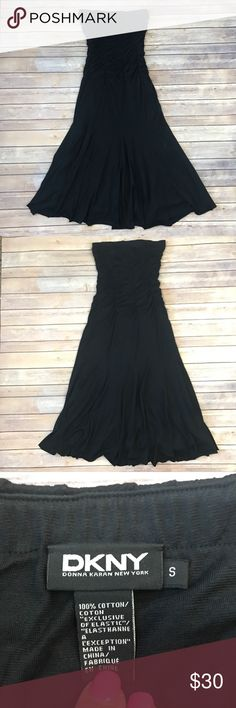 """DKNY Dress Black strapless dress. Measures 14"""" PTP and 41"""" from top to bottom. 100% Cotton. 19733-519 DKNY Dresses Strapless"""