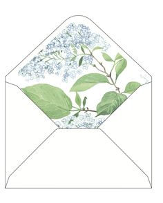 CocoCards: The luxurious touch - hand lined envelopes - lilac