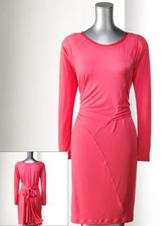 Simply Vera Vera Wang Solid Pieced Dress