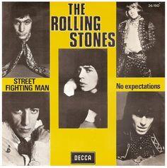 "The Rolling Stones - Street Fighting Man/No Expectations // 7"" Single, Decca Records, Belgium 1968 //"