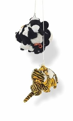 MIKE KELLEY Tiger and Saddle Shoe Stuffed animals, rope and wood