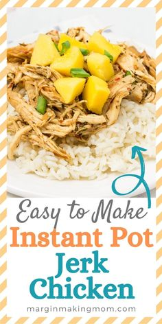 How good does this Instant Pot jerk chicken look? I love topping mine with mango or pineapple for a hint of sweetness to balance the spice! Instant Pot Pressure Cooker, Pressure Cooker Recipes, Weeknight Meals, Easy Meals, Food Dishes, Main Dishes, Caribbean Jerk Chicken, Fresh Lime Juice, Pineapple