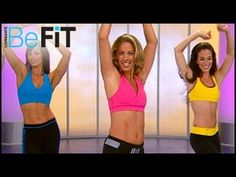 """""""Fat-Burning Cardio Latin Dance Workout"""" by Denise Austin--- my hips joints were feeling sore today from a long hike the day before. So I wanted to do something that would move my body and wake me up, but not put extra strain on my hip joints. This video is a nice way to move and wake up. Even got my heart pumping a little by the end. I followed it up with 10 minutes of working on my arms with weights."""
