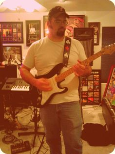My favorite guitar. This Fender Stratocaster was the last thing my Grandpa Fred bought me before he passed. I'm not very materialistic but I would have to say this is my prized possession.