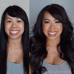 Before and after, bridal makeup, event makeup, natural makeup, Asian makeup @trangformation