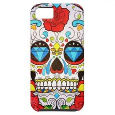 Sugar Skull and Red Roses iPhone 5 Case give me