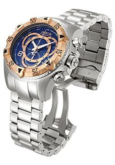 Invicta 10999 Mens Excursion Reserve Chrono Ss Blue Dial Rosetone Bezel *** More info could be found at the image url.