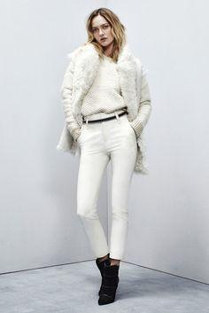 WINTER WHITE: monocromatic fur vest textured sweater pant .source: imgur.com