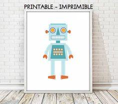 lamina robot, laminas infantiles,cuadro robot,laminas imprimibles,lamina ciencia ficción,robot retro,cuadros infantiles,5 TAMAÑOS INCLUIDOS