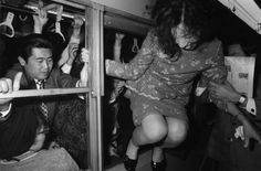 Here's a snap from 1972, during a Tokyo railway strike, which crowded trains so much, some had to exit through windows. Weeee!   Insane Photos Of Tokyo Commuters In The '60s And '70s