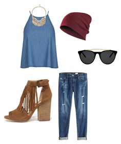 """Denim."" by jeanette-tinoco on Polyvore featuring AG Adriano Goldschmied, Chinese Laundry, Smoke & Mirrors and Sole Society"
