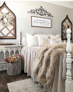 """""""Song of Solomon"""" / Farmhouse Style / Rustic / Home Decor / Hand painted / Wood sign / Gifts / Over the Bed / Bedroom, farmhouse master bedroom Home Decor Bedroom, Bedroom Wall, Diy Home Decor, Master Bedroom Decorating Ideas, Magnolia Bedroom Ideas, Romantic Master Bedroom Ideas, French Bedroom Decor, Farm Bedroom, Pretty Bedroom"""