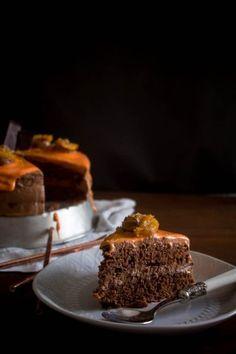 Τούρτα σοκολάτα πορτοκάλι - Myblissfood.grMyblissfood.gr Chocolate Orange, Chocolate Cake, Greek Desserts, Soul Food, Birthday Cakes, Sweet Tooth, Recipes, Chicolate Cake, Chocolate Cobbler
