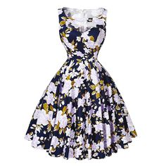 Women Floral Print 50s Dress 2016 Summer Plus Size clothing 60s Retro Vintage Party Dresses vestidos robe Rockabilly swing Dress *** More info could be found at the image url.