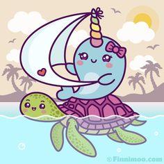 Kawaii Narwhal, Cute Narwhal, Kawaii Chibi, Kawaii Art, Narwhal Tusk, Cute Kawaii Animals, Cute Animal Drawings Kawaii, Kawaii Drawings, Cute Drawings
