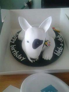 Bull terrier cake...I want one!