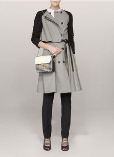 Hanii Y - Houndstooth-print trench coat | Grey 69103 - Hanii Y 1000 - Womenswear | nonPublic | Lane Crawford - Shop Designer Brands Online