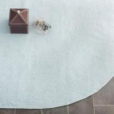 @Overstock - Add functional beauty your home decor with a braided rug. This floor rug features accents of light blue made from a cotton pile providing comfort and softness to the touch. The reversible area rug offers quality, style and durability.http://www.overstock.com/Home-Garden/Reversible-Light-Blue-Braided-Rug-5-x-8-Oval/6137106/product.html?CID=214117 $124.94