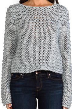 Cheap Monday Cher Sweater в цвете Grey Melange Crochet Jumper, Knit Crochet, Stylish Jeans, Poncho, Girls Sweaters, Winter Sweaters, Revolve Clothing, Cheap Monday, Knitwear