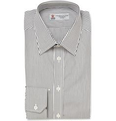 Turnbull & Asser Slim-Fit Striped Cotton Shirt