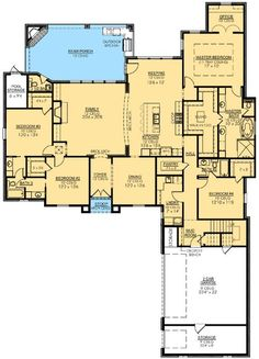 Fab 4 Bed French Country - 56366SM   1st Floor Master Suite, Acadian, Bonus Room, Butler Walk-in Pantry, Den-Office-Library-Study, European, French Country, MBR Sitting Area, PDF, Photo Gallery   Architectural Designs