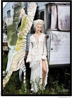 White Bohemian Sheer Maxi Dress