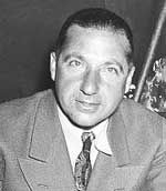 Frank Costello (1891 - 1973) Mafia leader nicknamed the Prime Minister, he made a famous appearance before the Kefauver Commission that was investigating organized crime in which only his hands were shown on television
