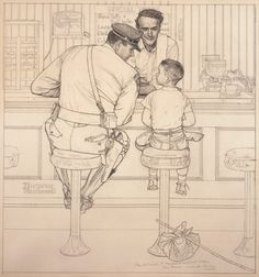 The Runaway | Norman Rockwell | The Saturday Evening Post, September 20, 1958