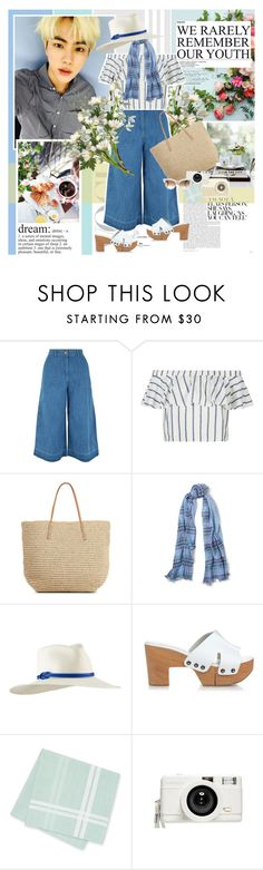 """Blue Jean"" by summervintage ❤ liked on Polyvore featuring New Look, Topshop, Target, Ralph Lauren, Tracy Watts, Robert Clergerie, Lomography and Gucci"