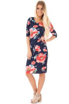 Lime Lush Boutique - Navy Floral Midi Dress, $38.99 (https://www.limelush.com/navy-floral-midi-dress/)