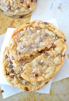 Chewy Salted Toffee Chocolate Chip Cookies - 1 Dozen $18.00