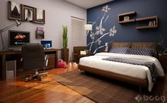 cuartos de varones con muebles color cherry - Google Search