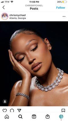 Cute Makeup, Makeup Geek, Makeup Inspo, Makeup Inspiration, Beauty Makeup, Dark Skin Makeup, Full Face Makeup, Black Girl Makeup, Girls Makeup