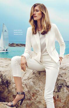 Biały garnitur damski #topsecret