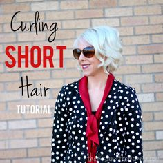 the MRS. & the MOMMA: Hair Tutorial: Curling a Short Bob.