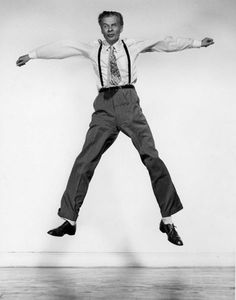 """This is Aldous Huxley in part of a series of photographs called """"Jump"""" by Philippe Halsman in 1959."""