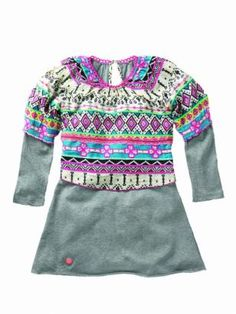 Mim Pi Girls Fashion Clothing Boutique In Stock Dress P, Gray Dress, Ethnic Chic, Young Ones, Tween, Girl Fashion, Grey, Outfit, Sweaters
